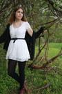 White-forever-21-dress