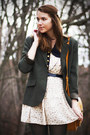 Brown-modcloth-boots-ivory-dahlia-dress-dark-green-thirfted-blazer