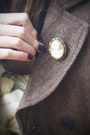 Dark-green-jennifer-lilly-dress-dark-brown-forever-21-coat