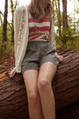 Salmon-striped-forever-21-shirt