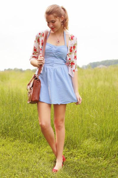 sky blue Forever 21 dress