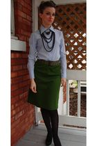 Smart Set shirt - vintage skirt - Aldo shoes - trifted belt - vintage necklace