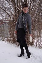 charcoal gray Only coat - black le chateau skirt - black Colin Stuart boots - iv