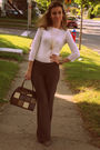 Mexx-pants-le-chateau-shirt-aldo-necklace-vintage-purse