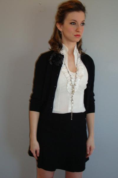 Black Jacob Skirts, White Smart Set Blouses, Black Vintage ...