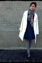le chateau scarf - le chateau coat - vintage skirt