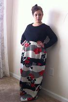 black Sears Fashions dress