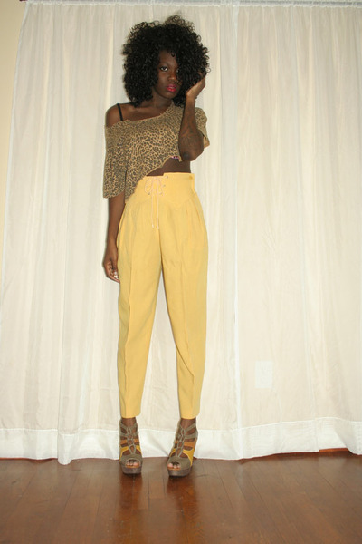 vintage Lady Manhattan pants - cheetah print shirt