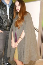 heather gray vintage cape