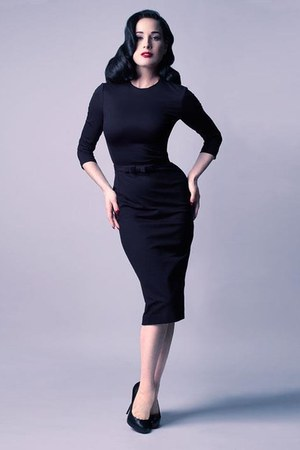 black Dita Von Teese dress