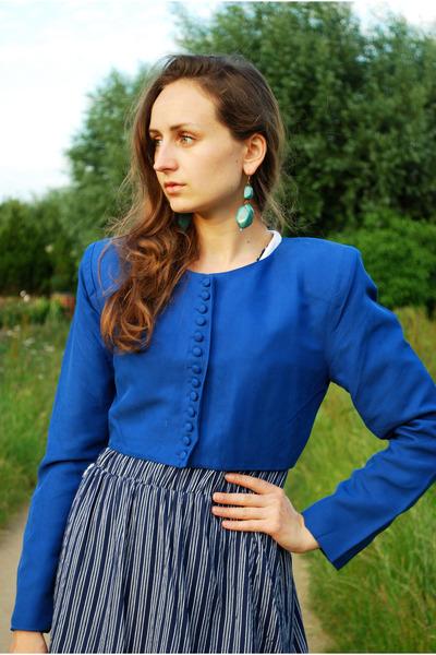blue Angela Holmes jacket