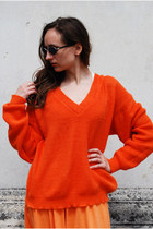 Carrot Orange Vintaholic Cardigans
