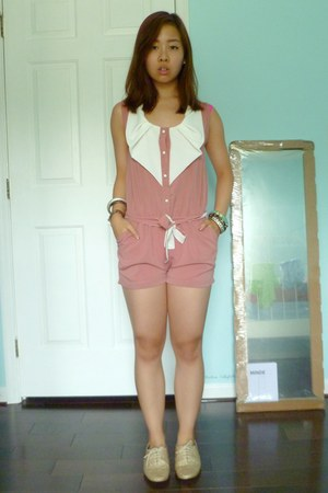 pink From China romper - gold Urban Outfitters shoes