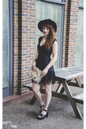 River Island bag - French Connection dress - Topshop sandals