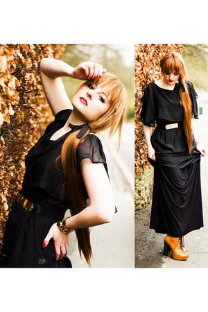 second hand boots - second hand top - e-bay belt - e-bay skirt