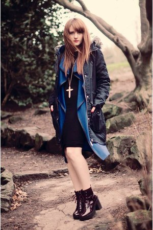 blue long Wearall cardigan - navy warehouse jacket