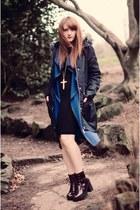 blue long Wearall cardigan - navy warehouse jacket