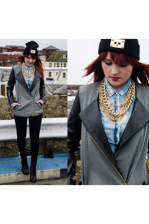 River Island hat - Katrus jacket - Sinsay shirt - River Island necklace