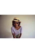Ardene hat - Ardene shorts - thrifted top