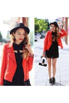 "Red spike jacket """"Vivilli giveaway on my blog"":"