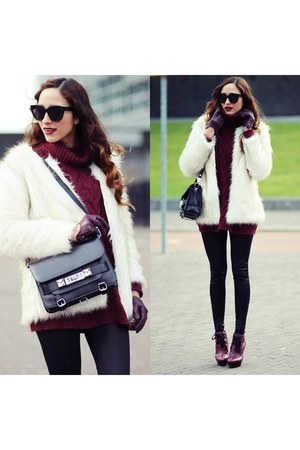 yeti coat Choies coat - PROENZA SCHOULER bag - Celine sunglasses