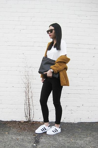 dark khaki BangGood sweater - black BangGood bag