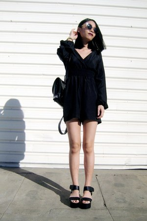 black Choies bag - black BangGood romper
