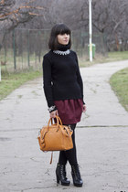 sammydress bracelet - black Tally Weijl sweater - off white sammydress necklace