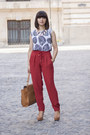 Tan-parfois-bag-tan-stradivarius-sandals-white-persunmall-blouse