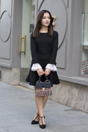 black sammydress dress - black zaful bag - black asos heels