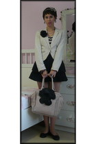 H&M jacket - ebay off brand shirt - angers france LIntemporelle bag - Zara skirt