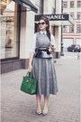 Heather-gray-asos-dress-white-asos-shirt-green-michael-kors-bag