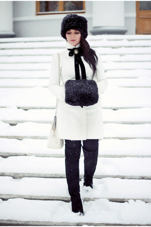 white Zara coat