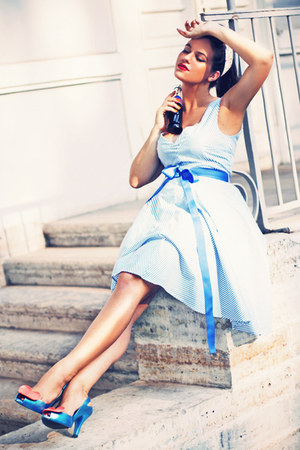 blue vivienne westwood heels - light blue Nishe dress