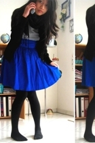 H&M skirt - H&M t-shirt - Zara jacket - H&M scarf - falke stockings