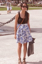 Ray Ban sunglasses - Hugo Boss top - H&M skirt - vintage purse - shoes