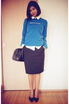 black pencil skirt Mango skirt