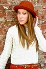 Urban-outiftters-wedges-felt-urban-outfitters-hat-forever-21-sweater