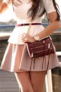 Light-pink-leather-h-m-skirt-white-peplum-zara-shirt
