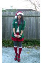 Tommy Hilfiger shoes - cardigan - MKA skirt - Target socks - Love Culture top -
