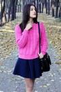 Bershka-boots-knitted-boohoo-sweater-odji-bag-boohoo-skirt