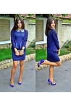 modcloth dress - Bershka cardigan - Love Label heels
