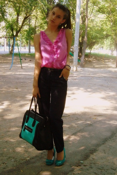 Loft blouse - Local shop shoes - Local shop purse - Zara pants
