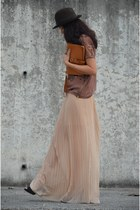 pull&bear skirt - vintage hat - Zara shirt - vintage bag - vintage heels