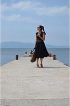 vintage dress - Mango bag - vintage heels
