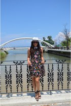 lcwaikiki dress - Colins hat - Stradivarius heels