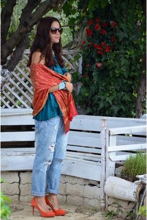 Mango shirt - Zara jeans - İpekyol heels