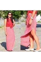 lcwaikiki shirt - hotic bag - Twist skirt - Nine West flats