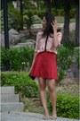 Stradivarius-shirt-bershka-bag-vintage-skirt-vintage-heels