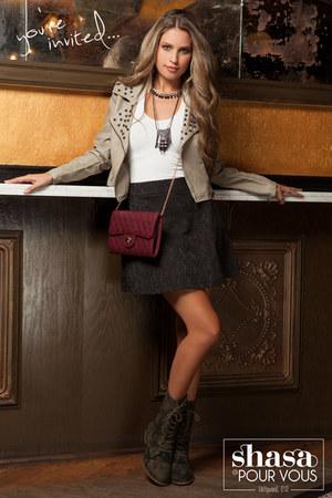 Shasa boots - Shasa jacket - Shasa purse - Shasa skirt